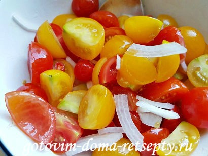 салат с брынзой и помидорами рецепт с фото 8