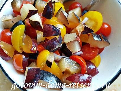 салат с брынзой и помидорами рецепт с фото 9