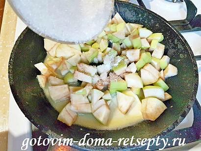 блинчики с яблоками и белым вином 11