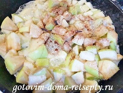блинчики с яблоками и белым вином 12