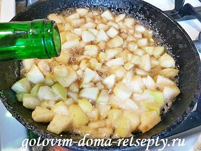 блинчики с яблоками и белым вином 13