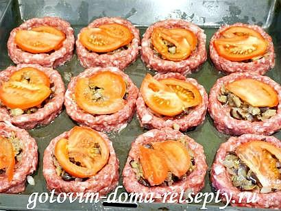 мясные гнезда рецепт с баклажанами и помидорами 12