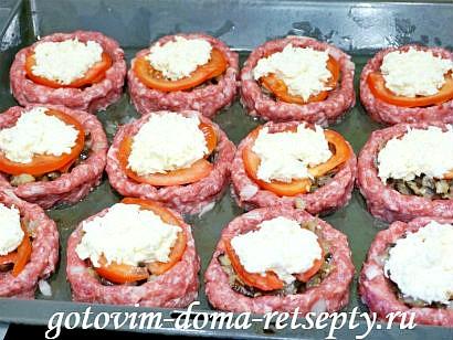 мясные гнезда рецепт с баклажанами и помидорами 13