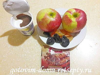 печеные яблоки с творожной начинкой в духовке 1