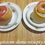 печеные яблоки с творожной начинкой в духовке 11