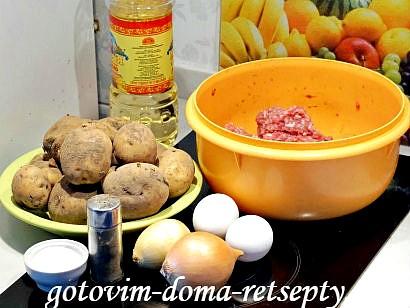 картофельная бабка с мясным фаршем 1