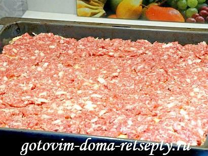 картофельная бабка с мясным фаршем 9