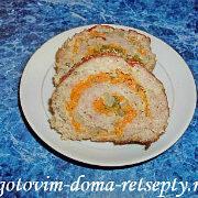 рулет мясной с яйцом в духовке рецепт 13