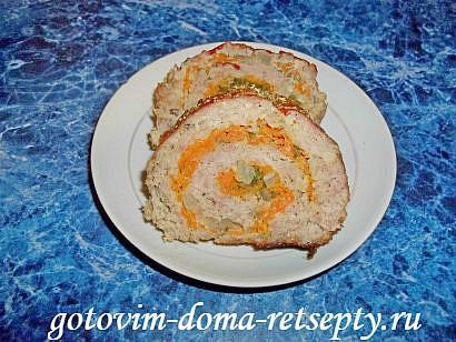рулет мясной с яйцом в духовке рецепт
